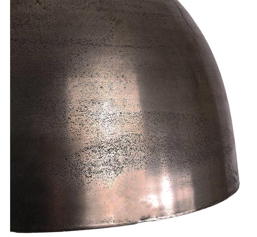 Industriële hanglamp Kira Raw Nickel Ø44 cm