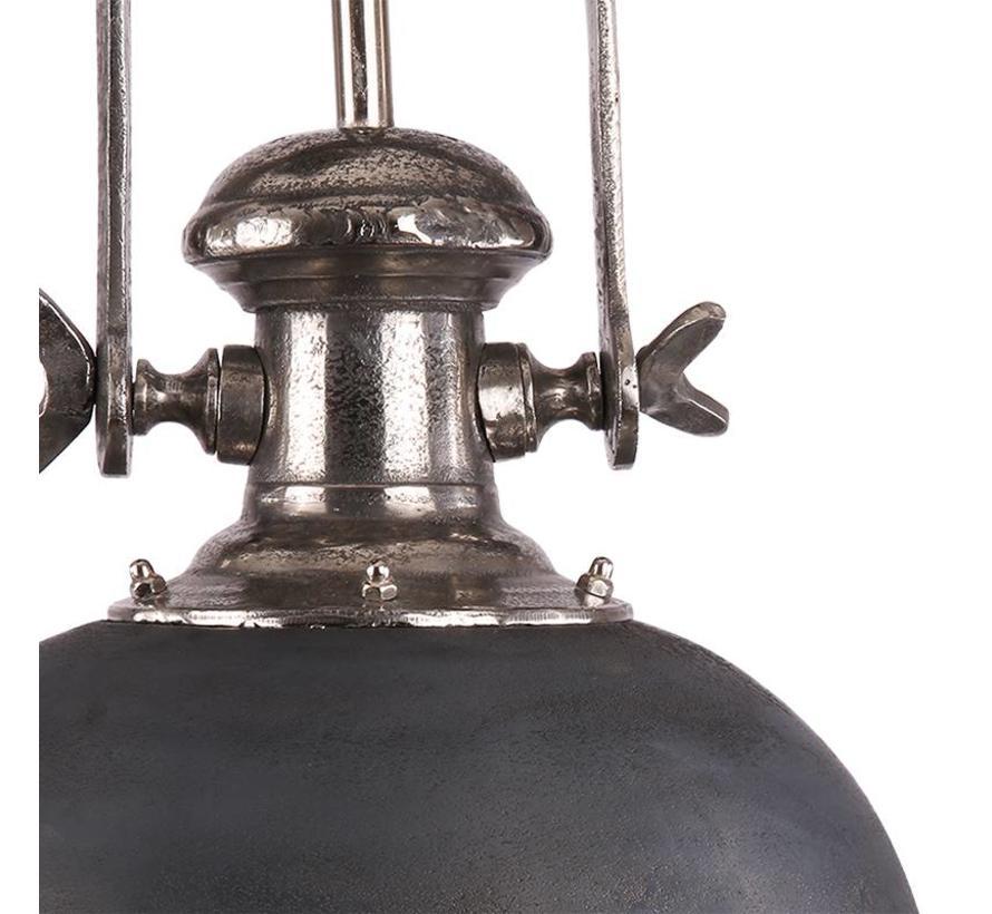 Industriële hanglamp Bailee Raw Nickel Ø45 cm