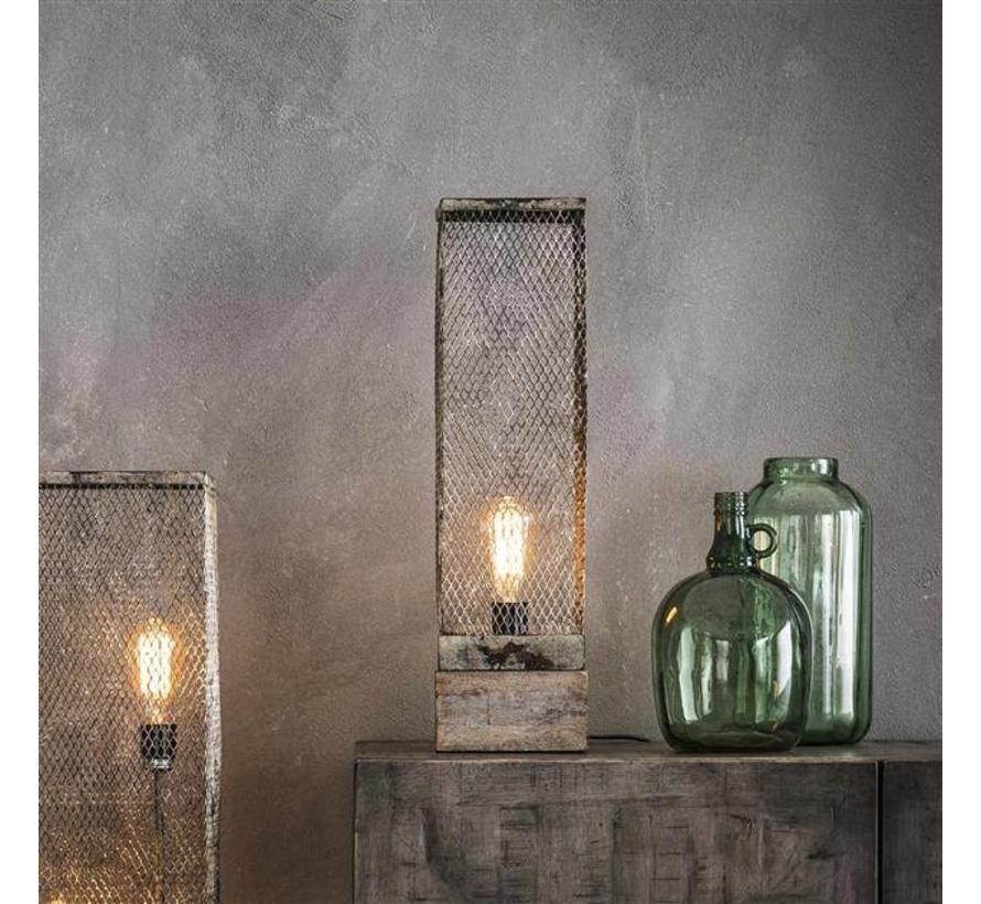 Industriële tafellamp Dolce 1-lichts raster