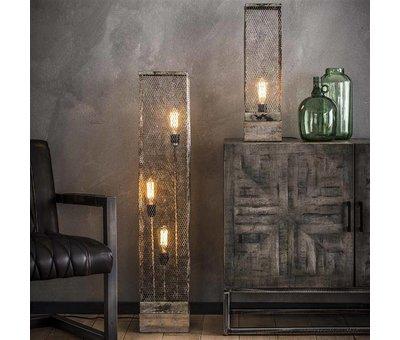 Industriële vloerlamp Dolce 3-lichts raster