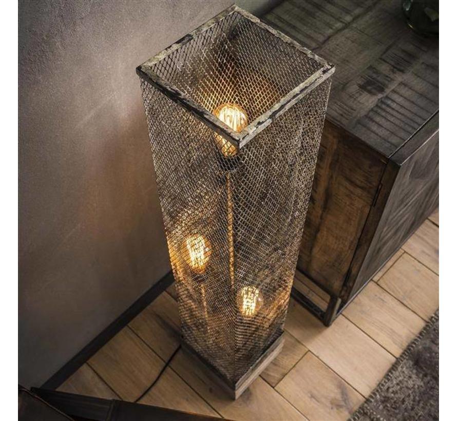 Industriële vloerlamp Dolce 1-lichts raster