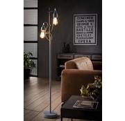 Industriële vloerlamp Josie 2-lichts grijs
