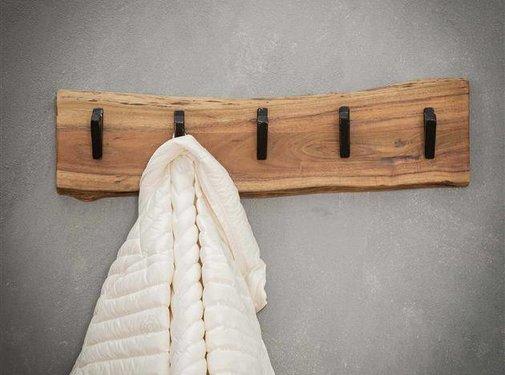 Kapstok Magda acaciahout 60 cm 5 haaks