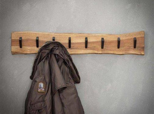Kapstok Magda acaciahout 90 cm 8 haaks