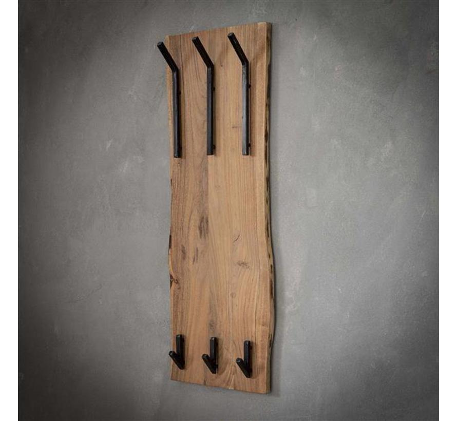 Kapstok Magda acaciahout 35 cm 9  haaks