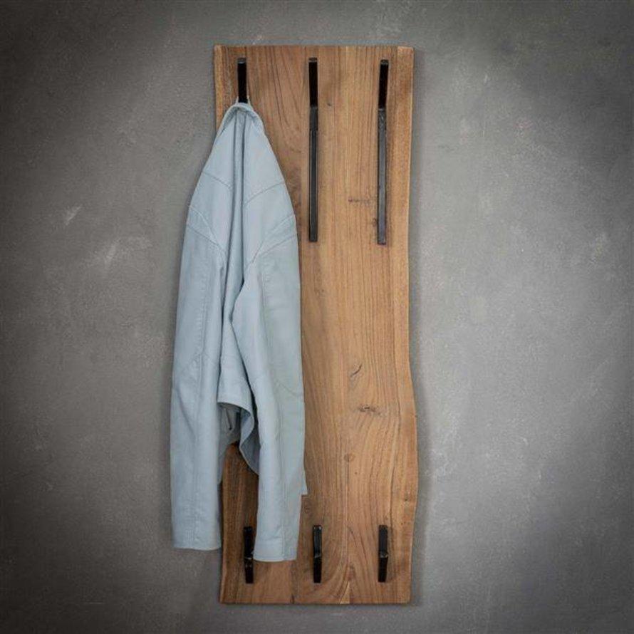 Kapstok Magda acaciahout 35 cm 6  haaks