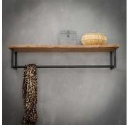 Kapstok Martha acaciahout 100 cm met hoedenplank