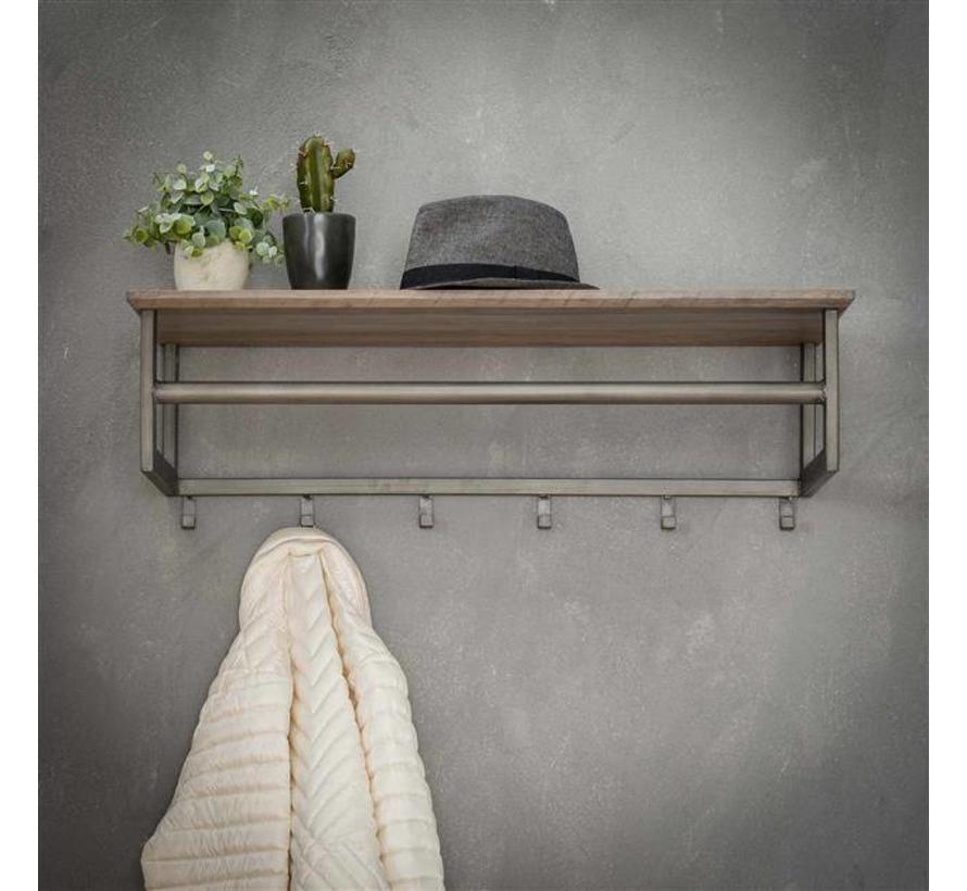 Kapstok Brenda 80 cm 6 haaks met hoedenplank