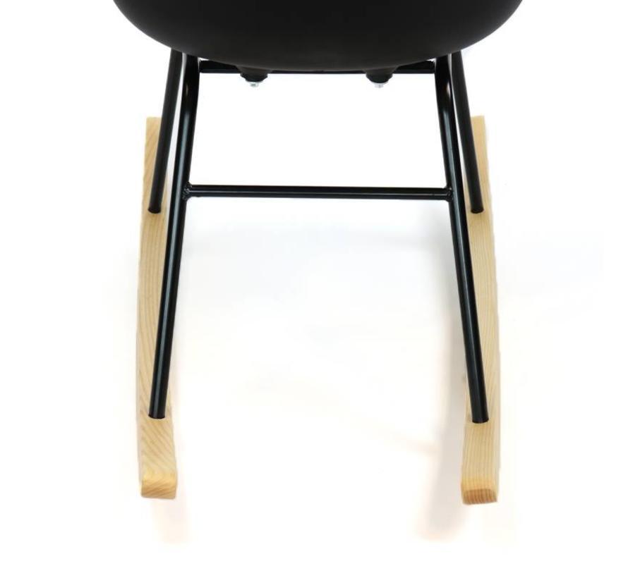 Schommelstoel Cristo zwart  - Scandinavisch  design
