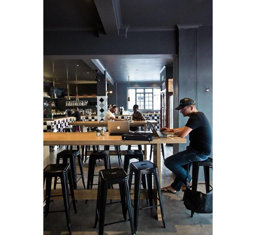 Retro café barkruk Graham zwart 76 cm