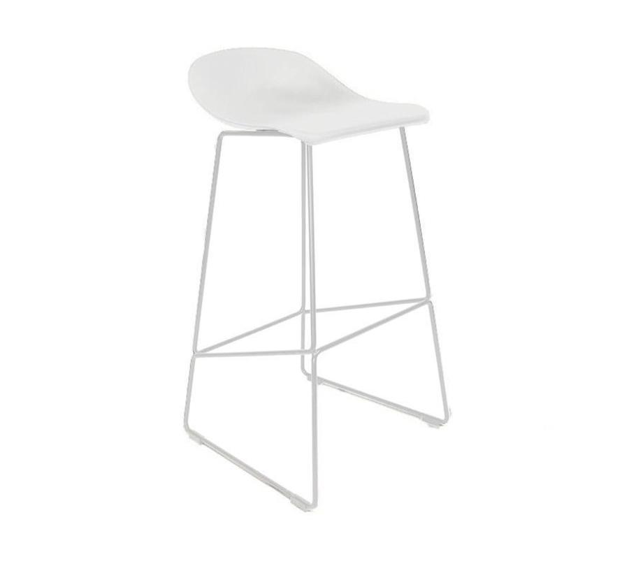 Moderne Witte Barstoelen.Barkruk Ellen Wit Scandinavisch Design Gratis Verzending Livin24