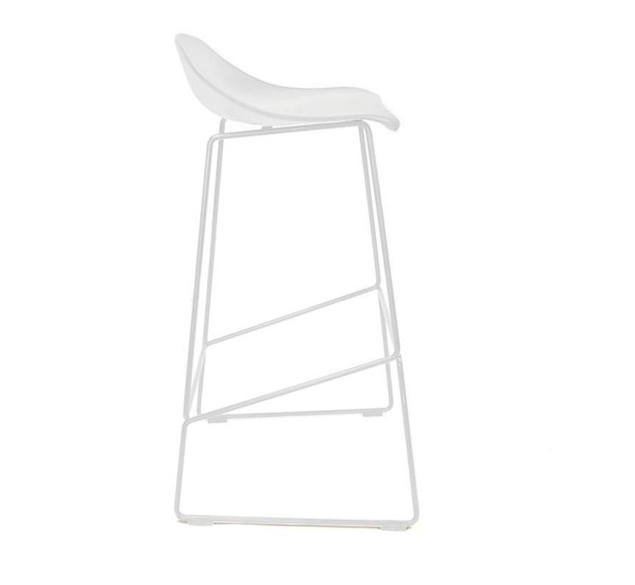 Barkruk Ellen wit Scandinavisch design 76 cm