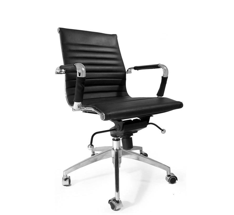 Bureaustoel Darren met lage rugleuning zwart