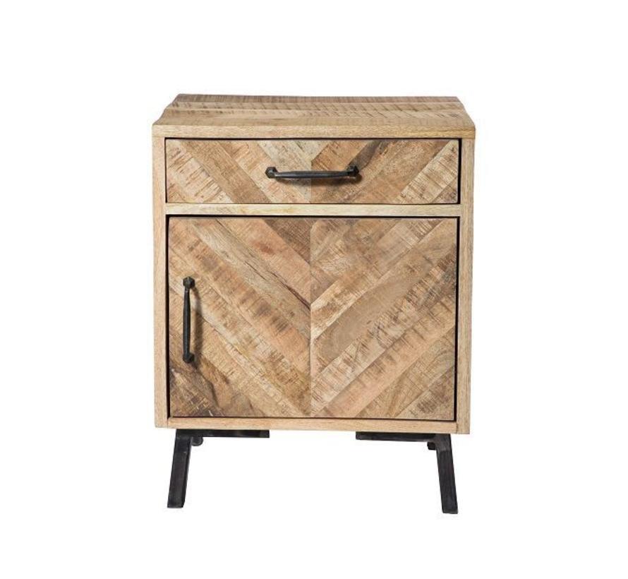 Massief industrieel houten kastje Marga mangohout