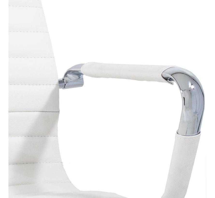 Bureaustoel Darren met lage rugleuning wit