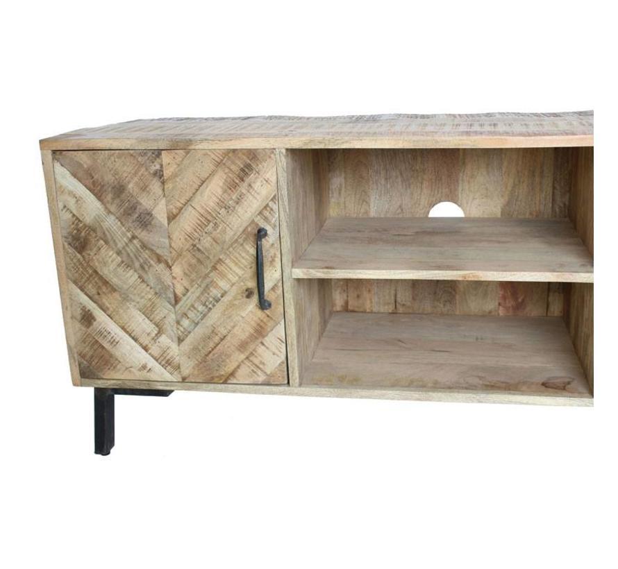 Industriële tv-meubel Daniel mangohout