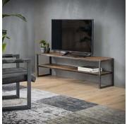Industriële tv-meubel Louie robuust hardhout 150x35