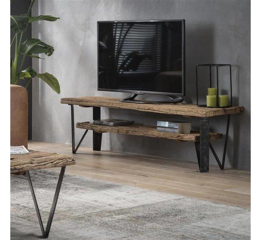Industriële tv-meubel Nova hardhout 160x40