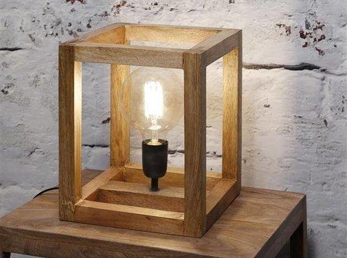Tafellamp Joy mangohouten frame