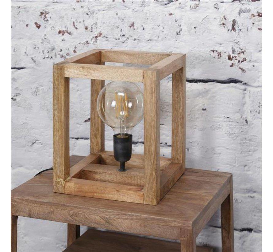Scandinavische tafellamp Joy mangohout