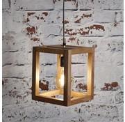Scandinavische hanglamp Joy mangohout 1-lichts
