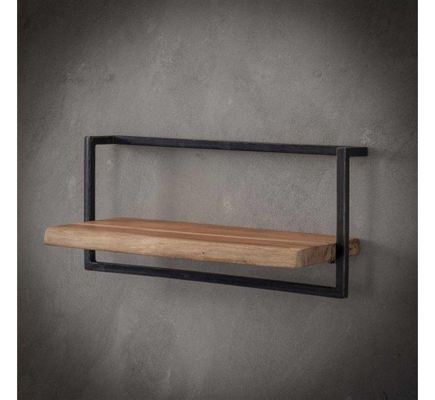 Wandplank Voor Fotolijstjes.Industriele Wandplank Hunter Acacia Hout 65 Cm Gratis Verzending