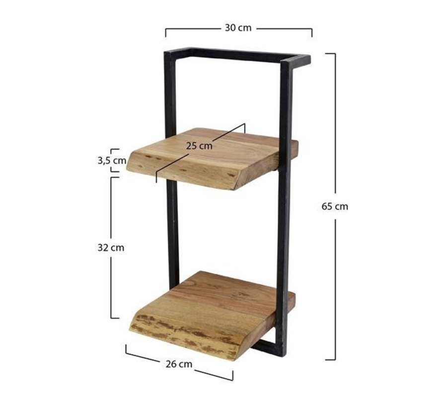 Wandplank Diepte 40 Cm.Industriele Wandplank Hunter Acacia Hout 30 Cm Gratis Verzending