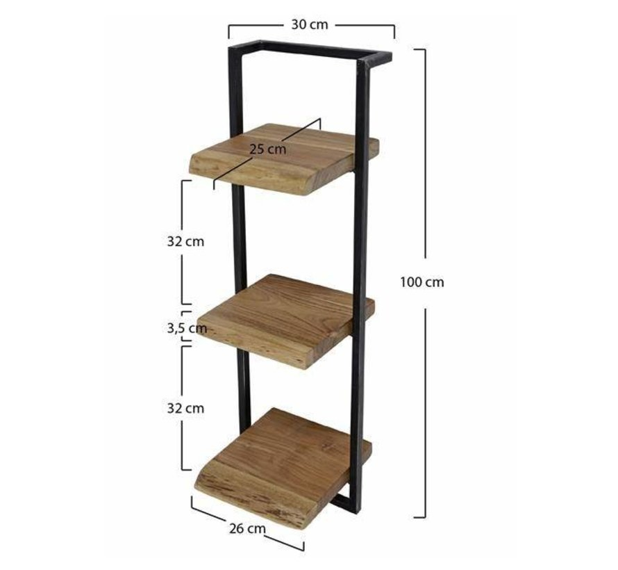 Wandplank 30 Cm.Industriele Wandplank Hunter Acacia Hout 30 Cm Gratis Verzending