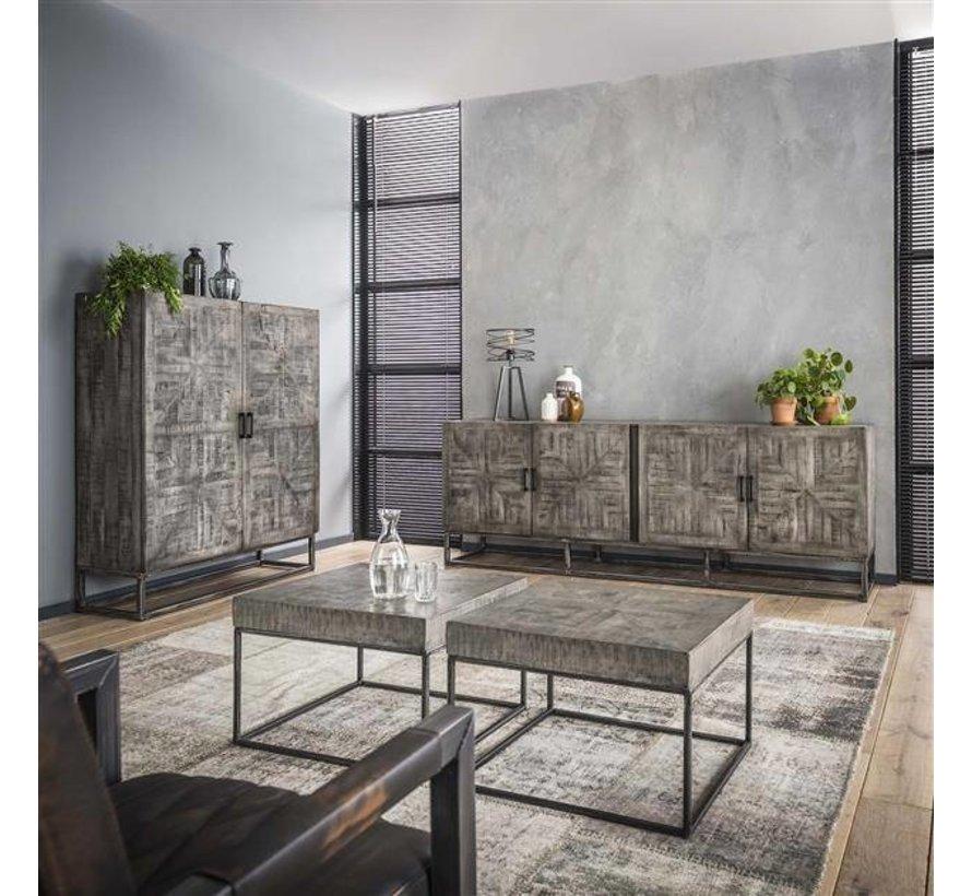 Industrieel dressoir Figo grijs mangohout
