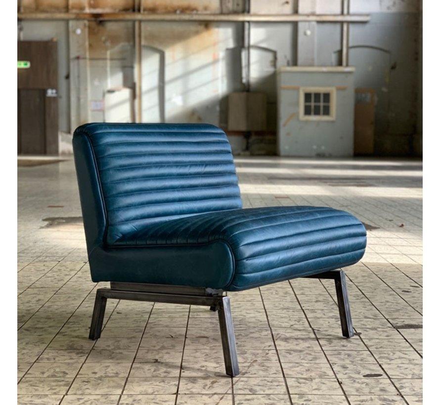 Industriële fauteuil Karel blauw