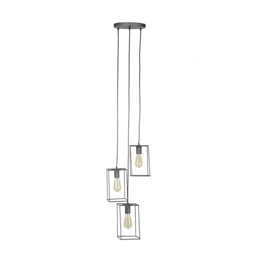 Industriële hanglamp Eli 3-lichts