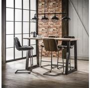 Industriële bartafel Kay acacia hout - 140 cm