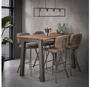 Industriële bartafel Pascal acacia hout - 147 cm