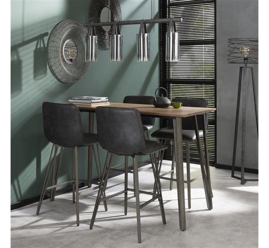 Industriële bartafel Johan MDF hout 140 x 70 cm