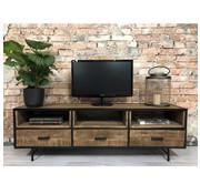 Industriële tv-meubel Marvik mangohout