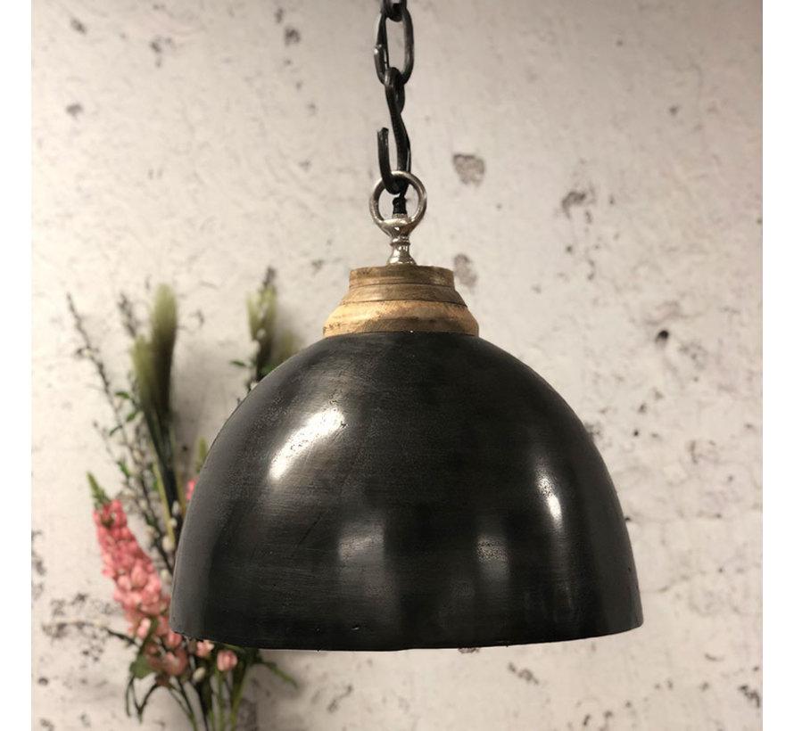 Industriële hanglamp Boston Raw Nickel Ø44 cm