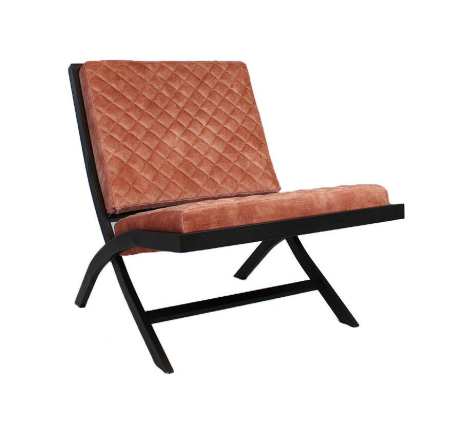 Design fauteuil Madrid velvet Luxury roze