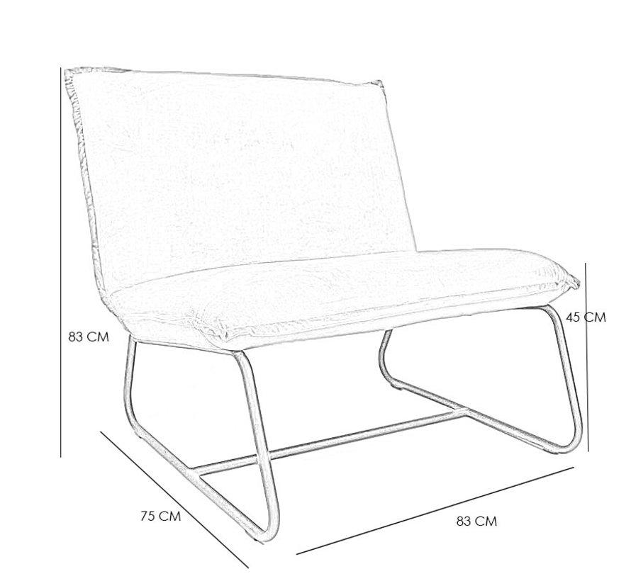 Moderne fauteuil Boris grijs