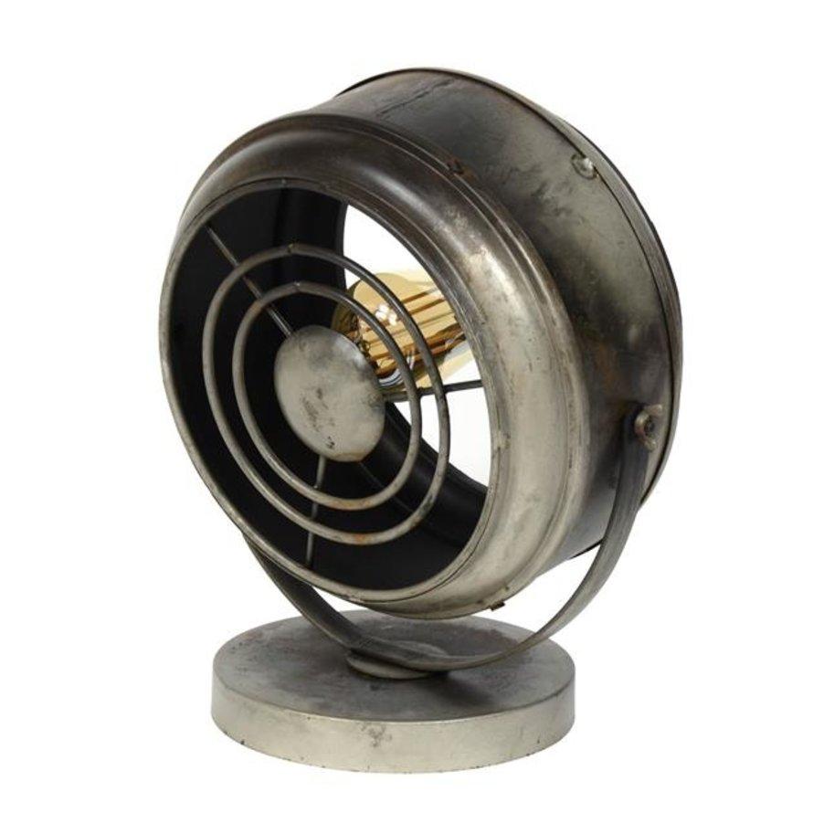 Industriële tafellamp Venti Oud zilver