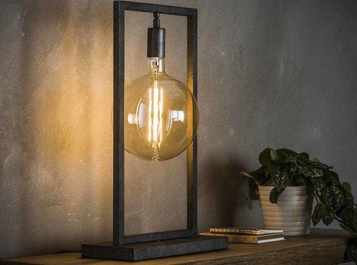 Industriële tafellamp Scope Oud zilver
