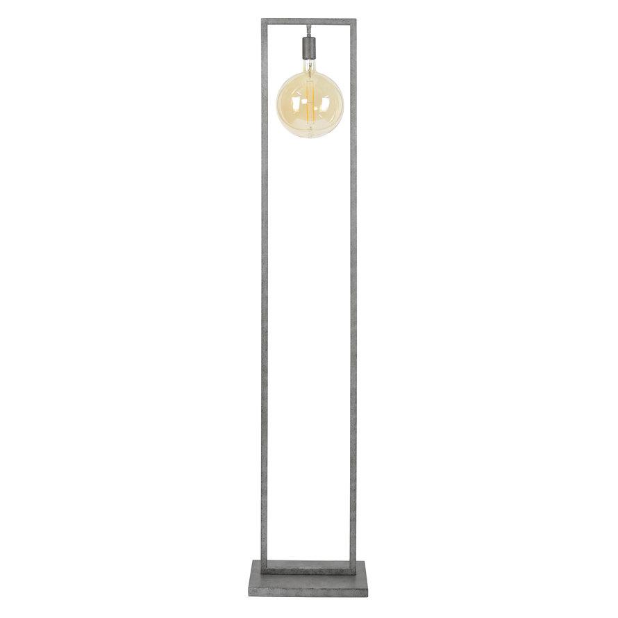 Industriële vloerlamp Scope Oud zilver