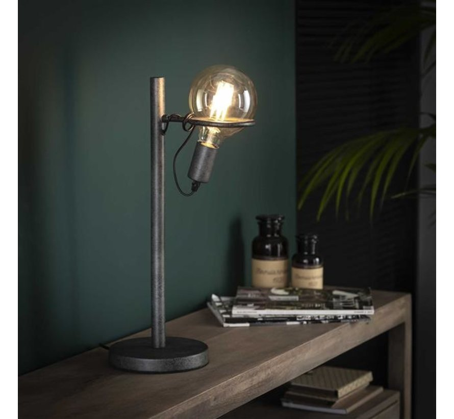 Industriële tafellamp Cosmos Oud zilver