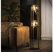 Vloerlamp Cosmos Oud zilver 2-lichts