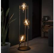 Industriële vloerlamp Cosmos Oud zilver 3-lichts
