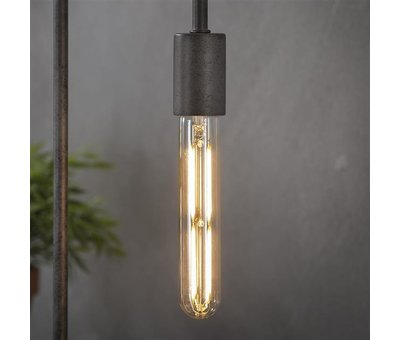 Industriële hanglamp Abby 4-lichts rond brons