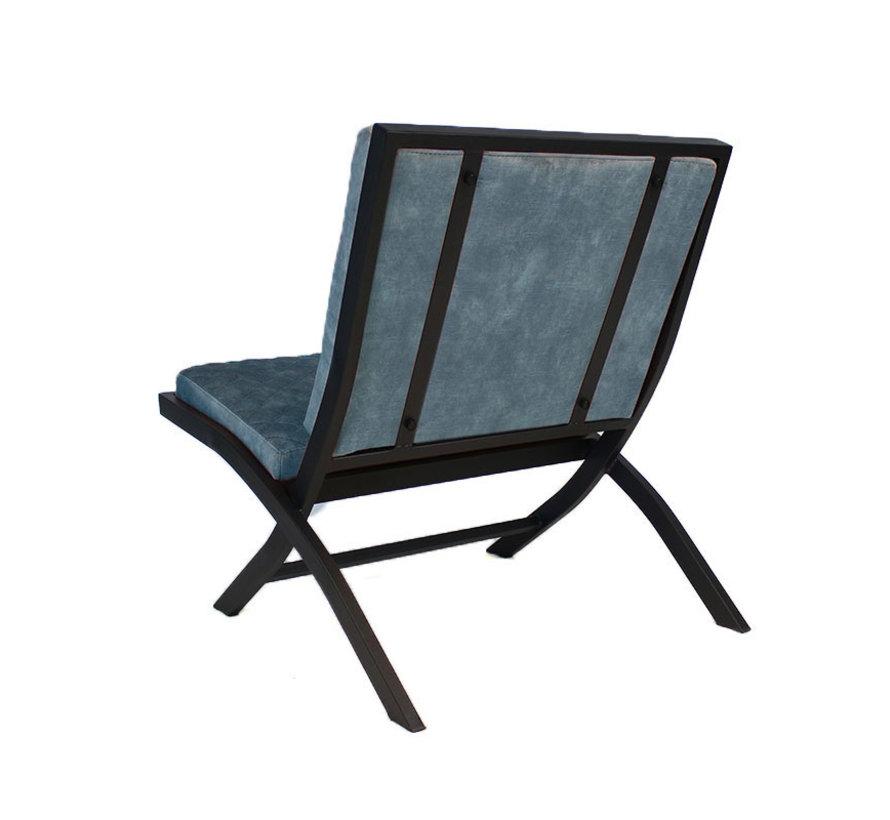 Design fauteuil Madrid velvet Luxury blauw