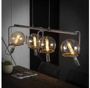 Industriële hanglamp Cosmos 3-lichts oud zilver