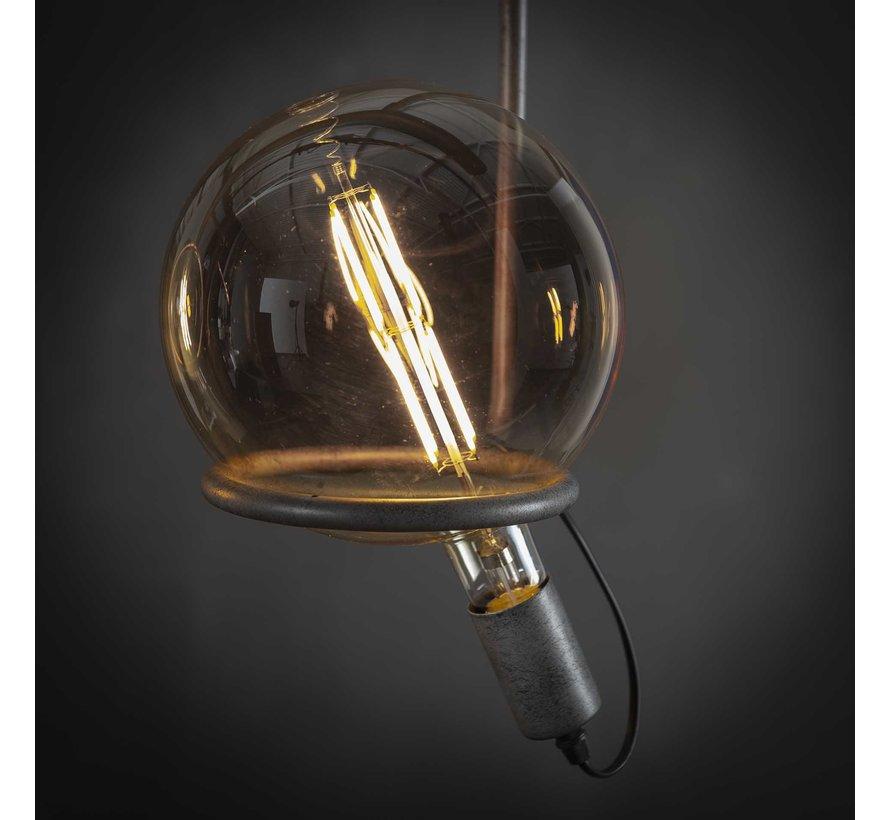 Industriële hanglamp Cosmos 4-lichts oud zilver