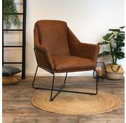 Industriële fauteuil Donna cognac