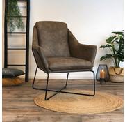Industriële fauteuil Donna taupe